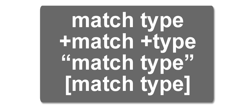 adwords-match-type